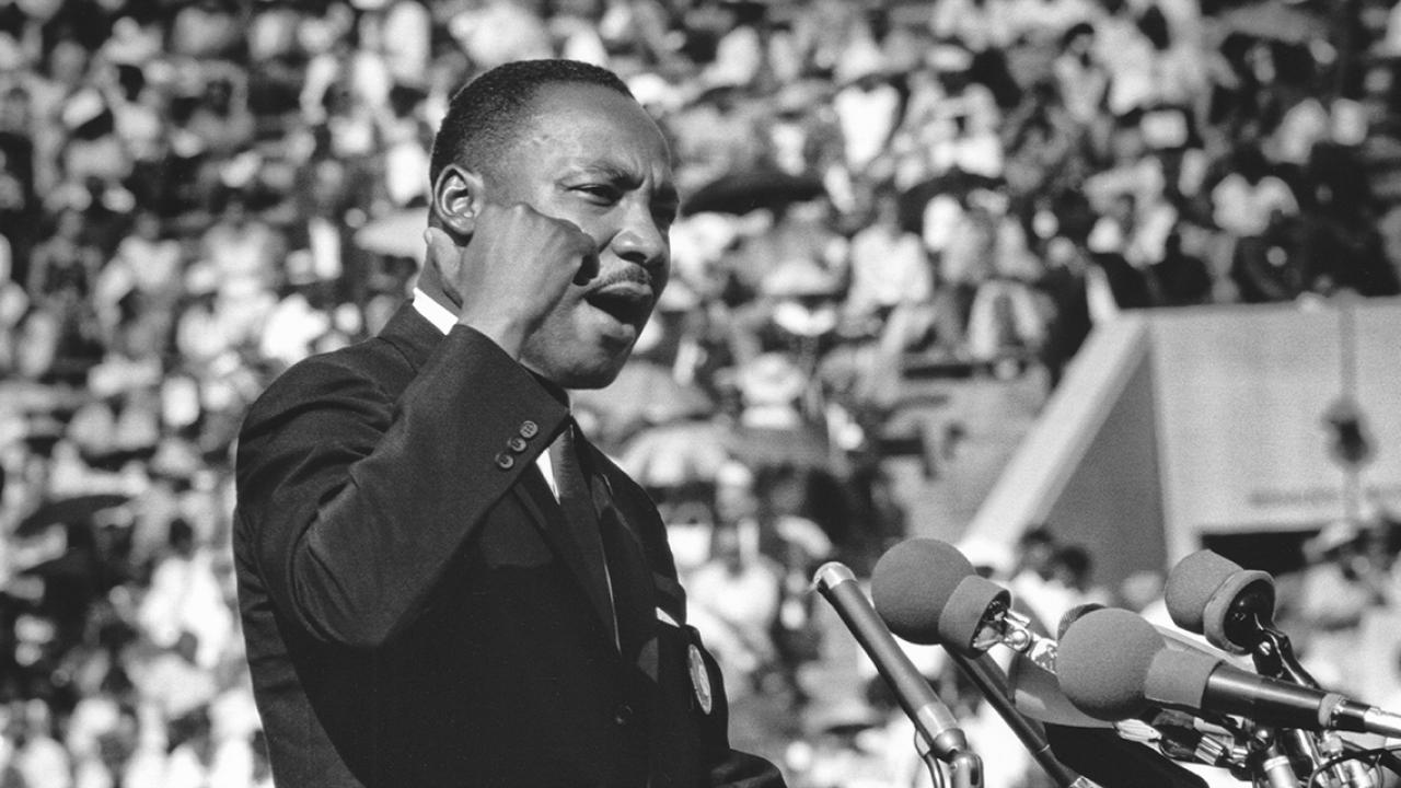 Martin Luther King Jr. phát biểu